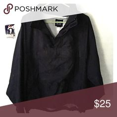 Navy Blue GAP rain/work jacket A lightly worn navy blue GAP Men's Work/Rain jacket. It is very comfortable and light with a hood and pocket in the front! GAP Jackets & Coats