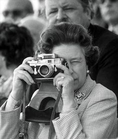 HRH Queen Elizabeth II and her Leica