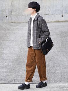 チェックブルゾン×コーデュロイ New Outfits, Cool Outfits, Casual Outfits, Fashion Outfits, Street Look, Men Street, Street Style, Autumn Clothes, Issa