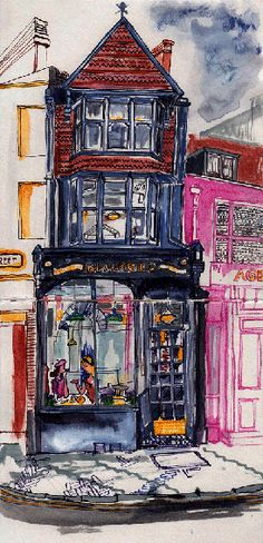 Illustration of Blackbird Tea Rooms - traditional tearooms in the heart of Brighton