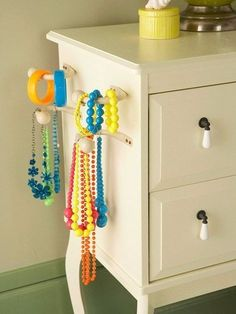Jewelry organization ideas for little girl