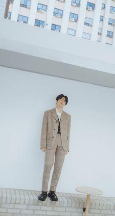 — junmyeon + self-portrait . Suho Exo, Kim Joon Myeon, Beige Aesthetic, Best Kpop, Fashion Idol, Xiu Min, Aesthetic Collage, Handsome, Singer