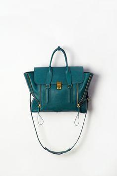 Pashli satchel in dark teal | 3.1 PHILLIP LIM