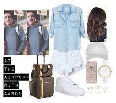 """At the airport With Aaron ❤️"" by cecilie2010-sp on Polyvore featuring Topshop, NIKE, Rifle Paper Co, Rails, Charlotte Russe, River Island and Louis Vuitton"