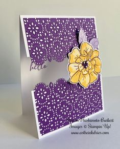 Combining to of my favorites, To a Wild Rose bundle with the Stitched Lace dies Fun Fold Cards, Folded Cards, Acetate Cards, Stamping Up Cards, Cards For Friends, Creative Cards, Scrapbook Cards, Homemade Cards, Making Ideas