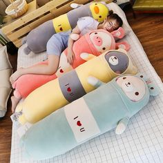 New Soft Animal Cartoon Pillow Cushion Cute Teddy Bear Pig Duck Plush Toy Stuffed Cushion Lovely Kids Birthyday Gift Cute Pillows, Bed Pillows, Cushions, Plush Pillow, Plush Animals, Cute Animals, Stuffed Animals, Totoro, Royal Animals
