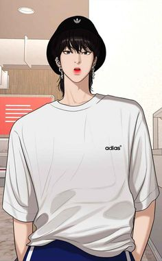 Handsome Korean Actors, Handsome Anime Guys, Cute Anime Guys, Cartoon Girl Images, Cartoon Art, Cute Love Images, Sad Pictures, Beautiful Wolves, Webtoon Comics