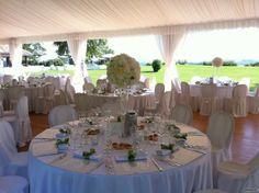 Matrimonio allestito con dettagli #verdi