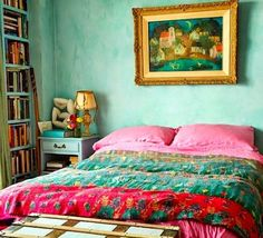 Pippa Small -- green walls in the little bedroom?