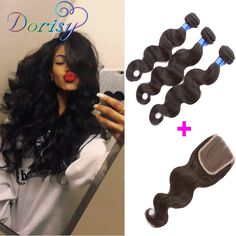 Cheap hair products brazil, Buy Quality product hair loss directly from China hair weave products Suppliers: 	Brazillian Virgin Hair Body Wave HLSK Queen Hair Products 3 Bundles 	With Free Part Closure Unprocessed Human Hair Clos