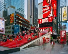 Interesting public space. The booth provides seating for times square, but is also functional in the sense that they sell tickets to shows.