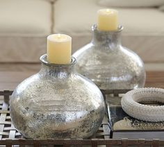 Bubble Mercury Glass Vases | Pottery Barn