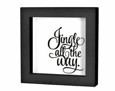 """Christmas Shadow Box Decal Christmas Decoration """"Jingle All the Way script"""" Christmas Charger Plate Decal Holiday Sign Sticker DIY Christmas by empressivedesigns on Etsy https://www.etsy.com/au/listing/254284183/christmas-shadow-box-decal-christmas"""