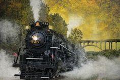 Steam train by Bill Currier (Cuyahoga National Park, Ohio)