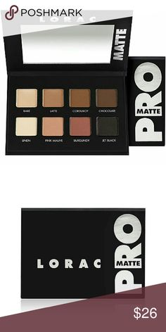 LORAC PRO Matte Palette 100% Authentic NIB Lorac Pro Matte Palette 100% Authentic NIB. Beautiful neutral matte versatile colors for every skin tone. High end excellent quality palette. Lorac Black Eye Pencil NIB and Lorac Pro Lash Pomade Mascara NIB also available but sold separately. Please let me know if you have any questions. 30% discount when using the bundle feature. No trades! PRICE FIRM unless using bundle feature. Reasonable BUNDLE offers may be considered. Sephora Makeup Eyeshadow