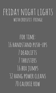 CrossFit Fringe Friday Night Lights wod