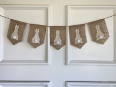 Want this cute Easter Bunny Banner for Easter? Check out this Burlap Banner for Spring, Easter, Nursery or Peter Cottontail Birthday by HunnyBunting on Etsy https://www.etsy.com/listing/267830611/easter-bunny-burlap-banner-for-spring