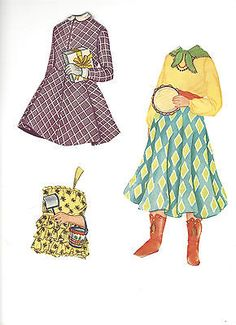 VINTAGE-1958-MAGIC-MARY-ANN-PAPER-DOLL-SET-CUT