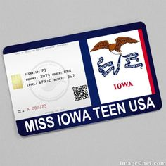 Miss Iowa Teen USA Card