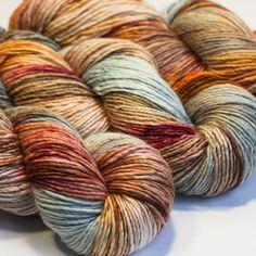 crochet Custom dyed Victorian Rose Hand Dyed Sock Yarn Artisian knotting weaving