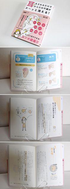 『耳をさわるだけでからだの不調がス〜ッと消える! たった1分でできる耳ツボ健康法』KANZEN(2015/5/15)カバー・本文デザイン   book design / cover & Editorial