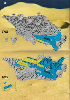 LEGO 497 Galaxy Explorer instructions displayed page by page to help you build this amazing LEGO Space set Lego Space Sets, Lego Sets, Lego Dino, Cool Lego, Awesome Lego, Lego Spaceship, Lego Group, Lego Projects, Old Games