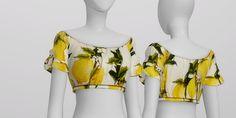 S4 _The bright lemon print Off-shoulder Crop Top by Dolce&Gabbana (3 color) : 네이버 블로그