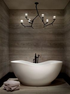 """""""View this Great Contemporary Master Bathroom with Master bathroom & Freestanding Bathtub by Locati Architects. Discover & browse thousands of other home design ideas on Zillow Digs. Bad Inspiration, Bathroom Inspiration, Bathroom Spa, Bathroom Interior, Bathroom Ideas, Small Bathroom, Bathtub Ideas, Bathroom Towels, Bathroom Gallery"""