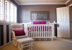 Love this nursery :: The art on the wall is Zephaniah 3:17