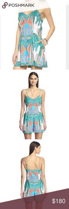 mara hoffman // colorful romper NWT gorgeous Mara Hoffman colorful pleated romper. Adjustable spaghetti straps, 4 button half-placket. The perfect addition to your spring and summer wardrobe! Only selling because it's one size too small for me 😫 Mara Hoffman Dresses