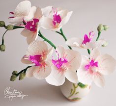 paper flowers - DIY paper orchids