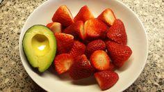 Strawberries and avocado.