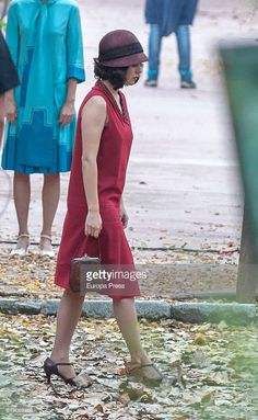 Blanca Suarez is seen during the set filming of the Netflix serie 'Las Chicas del Cable' on October 21, 2016 in Madrid, Spain.