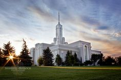 Mt Timpanogos Temple Smoky Skies by ShantellBullockPhoto on Etsy, $10.00