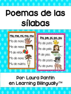 This product includes Spanish syllable poems to introduce/reinforce the syllables of the week! Also, smaller black & white versions of the poem for students to put into their poetry notebooks! Dual Language Classroom, Bilingual Classroom, Bilingual Education, Spanish Classroom, Classroom Ideas, Education Logo, Education Quotes, Preschool Spanish Lessons, Spanish Teaching Resources