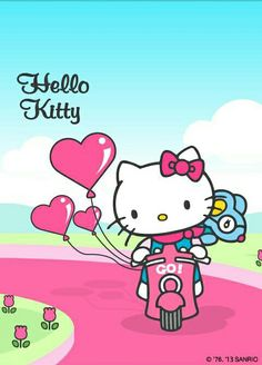 Going out for a ride. Melody Hello Kitty, Hello Kitty Art, Hello Kitty Items, Hello Kitty Birthday, Sanrio Hello Kitty, Hello Kitty Backgrounds, Hello Kitty Wallpaper, Sanrio Characters, Cute Characters