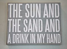 Shop beach decor signs for wall decor with an Ocean and Beach messages online. Transforms your walls into a beautiful beach sight with beach wood style signs.