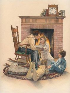 Pull out a good book to read with your children in front of a fire.  It'll warm your hearts.