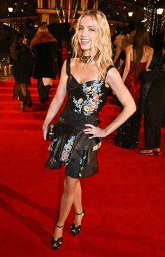 Annabelle Wallis wears Alexander McQueen