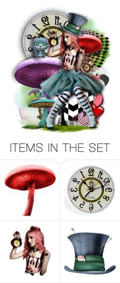 """""""What time is it Alice?"""" by rosie305 ❤ liked on Polyvore featuring art and artdoll"""