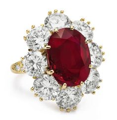Richar Burton ruby-diamond-ring by Van Cleef & Arpels
