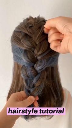 Pretty Braided Hairstyles, Cute Hairstyles For Medium Hair, Girl Hairstyles, Braid Hairstyles, Protective Hairstyles, Hairdo For Long Hair, Long Hair Video, Braids For Short Hair, Box Braids