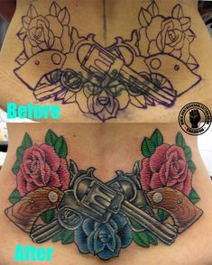 2db849dc2 Guns and Roses v Tribal = Cover up wins! Tribal Cover Up, Tribal Tattoo