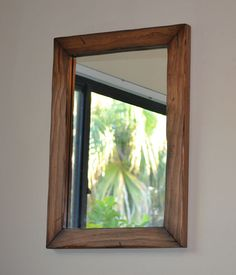 Rustic Mirror Wood Mirror Walnut by MyersWoodworks on Etsy