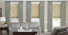 roman shades with sheer panels
