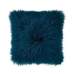Home Republic - Mongolian Sheepskin Cushion Teal Teal Cushions, Bedroom Cushions, Cushions For Sale, Grey Headboard, Grey Bedding, Black Furniture, Custom Furniture, Gray Bed Set, Adair Homes