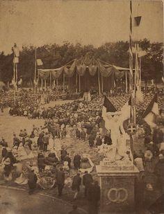 Giardini della Lizza, Festa nazionale del Regno d'Italia (2 giugno 1861). Fotografo Paolo Lombardi. Archivio fotografico Malandrini - Fondazione MPS