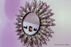Sunburst Mirror {Teen Room Spray Paint Projects} @aptguide @krylondiy ~ * THE COUNTRY CHIC COTTAGE (DIY, Home Decor, Crafts, Farmhouse)