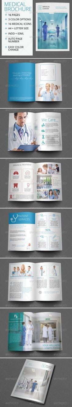Medical Center Brochure Design  Medical Center Medical Brochure