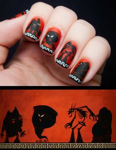 31DC2013 Day 23: Inspired by a Movie (Hercules) | Chalkboard Nails